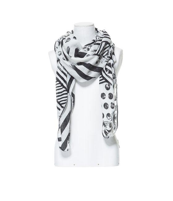 Fular rayas/topos de Zara - 15'95€