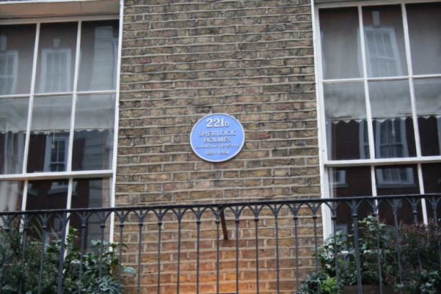 Sherlock Holmes hause (en el 221B Baker Street), Londres